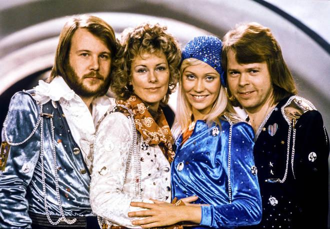 Eurovision 1974: ABBA's Benny Andersson, Anni-Frid Lyngstad, Agnetha Fältskog and Björn Ulveaus