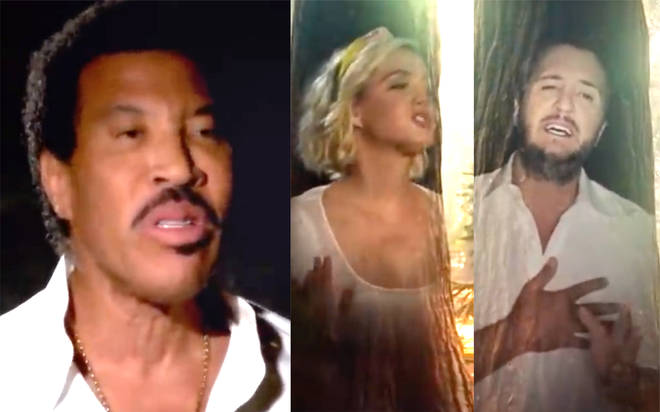 Lionel Richie performs 'We Are The World' with Katy Perry and Luke Bryan