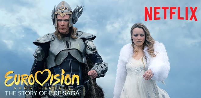 Will Ferrell and Rachel McAdams in Netflix film Eurovision Song Contest: The Story of Fire Saga