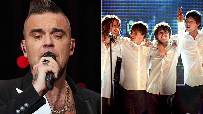 Robbie Williams will be reuniting with Take That for an at-home concert