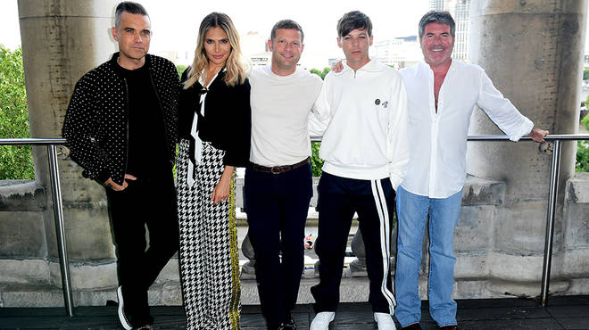 Robbie Williams and wife Ayda joined X Factor for one year