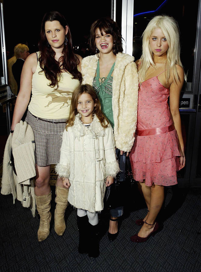 Bob Geldof's children (L to R): Fifi, Tiger Lily, Pixie and Peaches