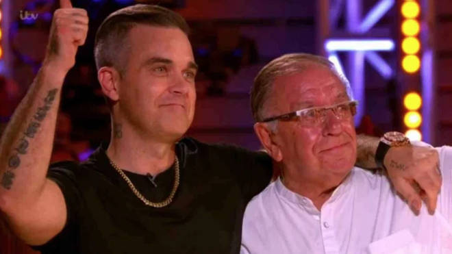 Robbie Williams and his dad, Pete Conway