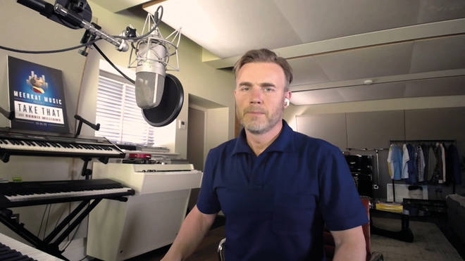 Gary Barlow joins the band from his West Oxfordshire home