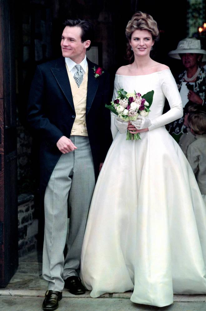 Susannah Constantine's wedding day in 1995