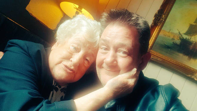 Johnny Vegas and his mother Patricia