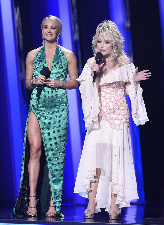 Carrie Underwood with Dolly Parton