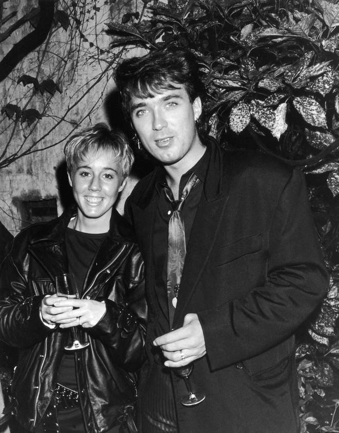 Martin Kemp and Shirlie Holliman attending a party hosted by rock group Queen in London on July 14, 1986