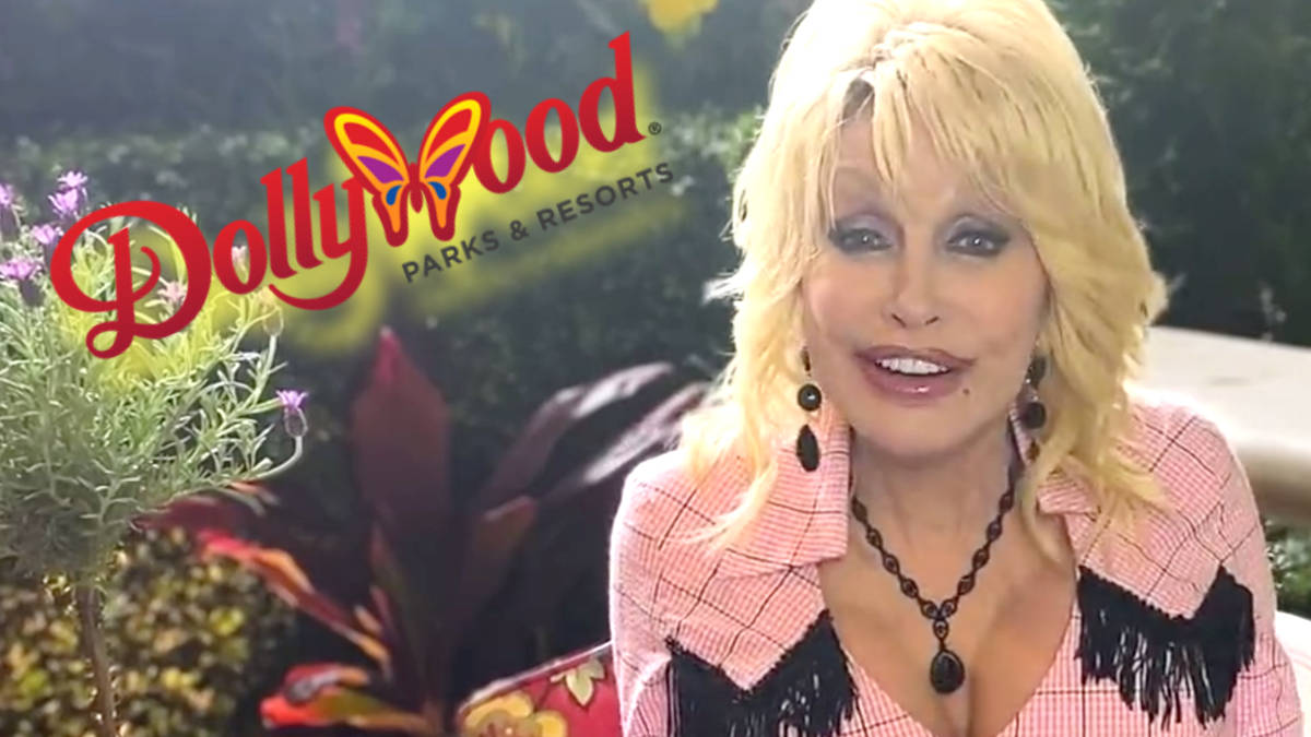 Dolly Parton records special video message to welcome guests back to Dollywood