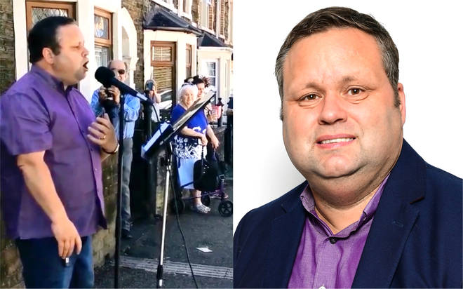 Paul Potts gives lockdown street performance to celebrate special 70th wedding anniversary