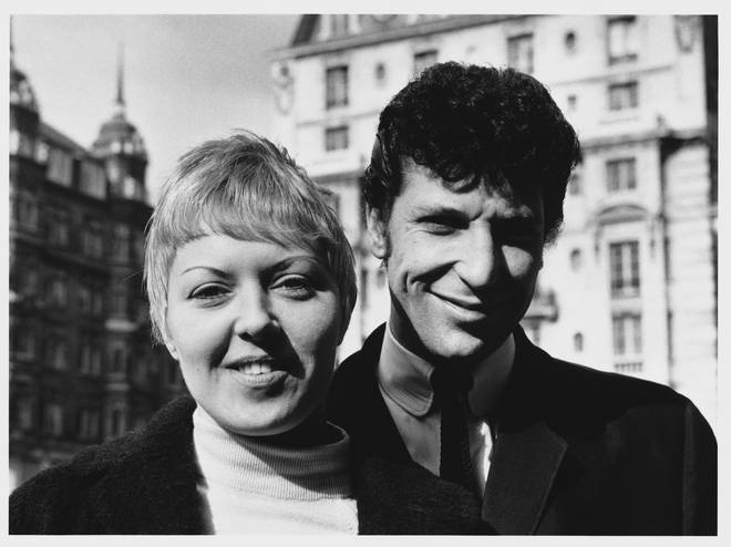 Tom Jones and wife Linda, both 24-years-old, pictured in London in March 1964