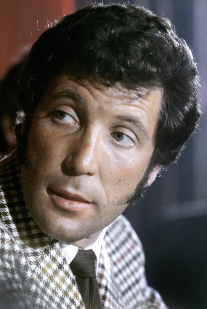 Tom Jones pictured in the 1970s in London