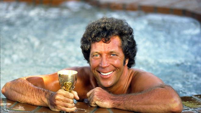 Tom Jones pictured at home in Beverly Hill in the 1980's