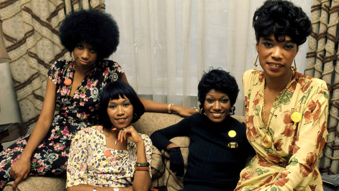 Pointer Sisters in 1974 (Anita, Ruth, Bonnie and June)