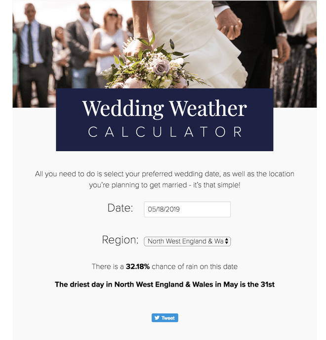 Monsoon wedding rain calculator