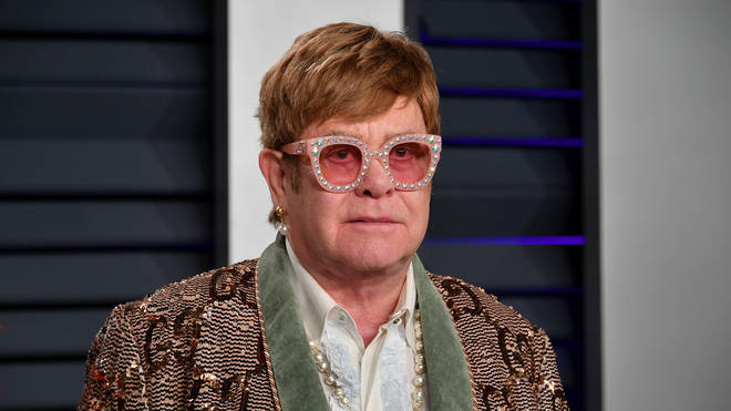 Elton John at the 2019 Vanity Fair Oscar Party