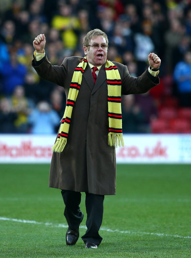 Elton John has been a huge supporter of Watford FC all of his life