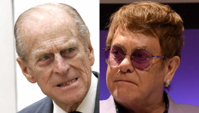 Prince Philip had some harsh words for the singer Elton John
