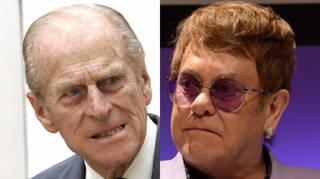 Prince Philip had some harsh words for the singer Elton John