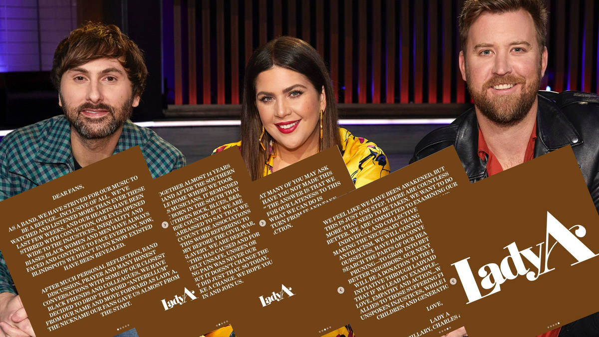 Lady Antebellum announce permanent name change to Lady A ...