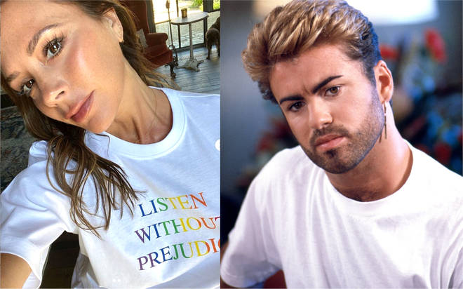 George Michael's 'Listen Without Prejudice' album title used for Victoria Beckham's £95 Pride T-shirt