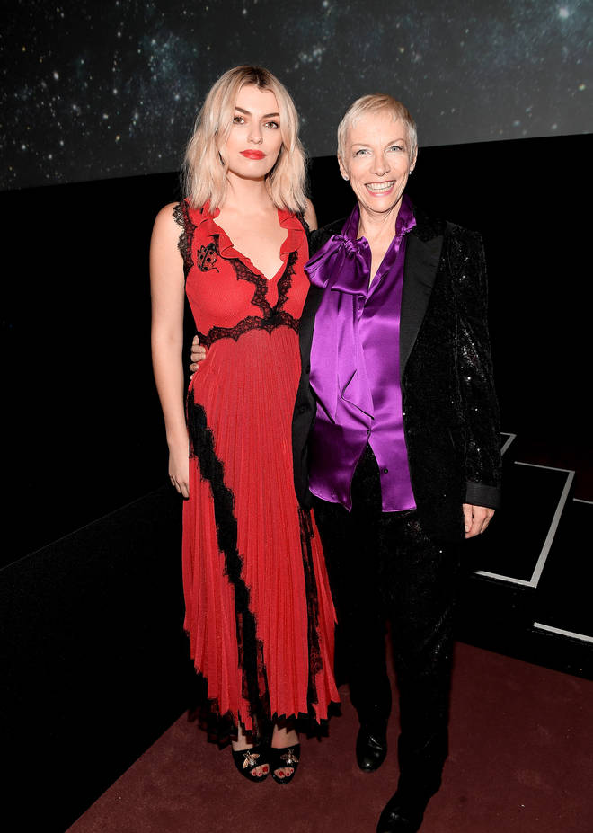 Lola Lennox pictured in 2017 with mum Annie Lennox