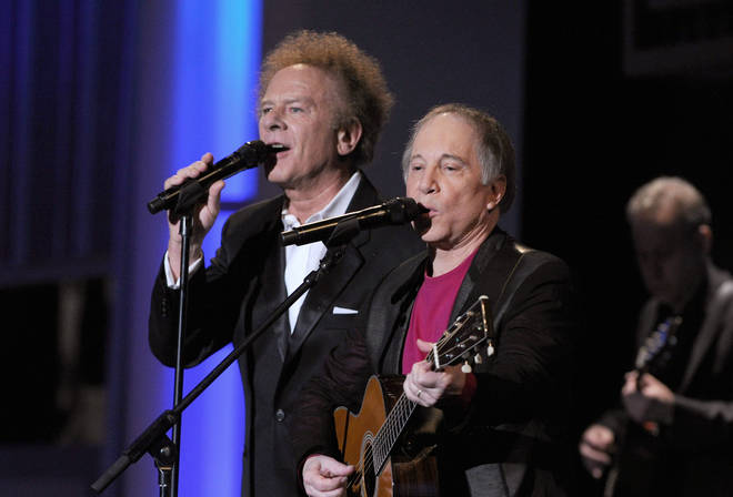 Simon & Garfunkel perform for one of the last times together in California on June 10, 2010