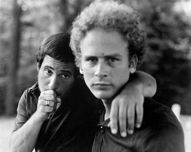 Paul Simon and Art Garfunkel pictured in the late '60s