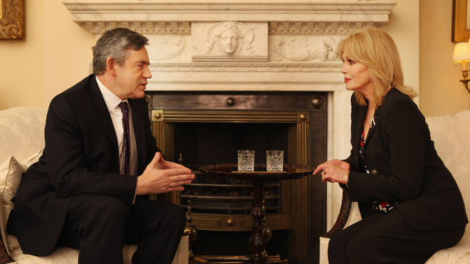 Joanna Lumley and Gordon Brown