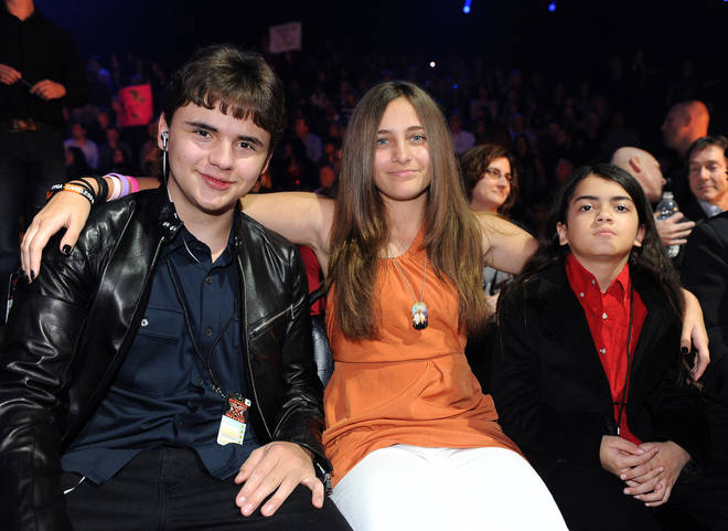 "Michael Jackson&squot;s children Prince Jackson, Paris Jackson and Blanket Jackson in the audience at FOX&squot;s ""The X Factor"" Top 7 Live Performance Show on November 30, 2011 in West Hollywood, California"