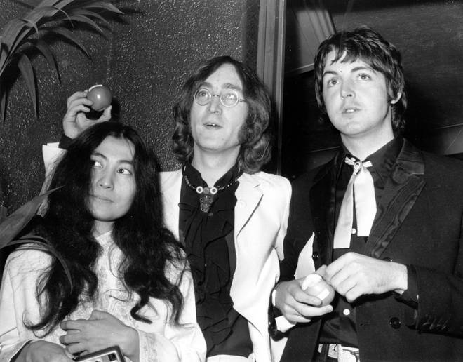 Yoko Ono, John Lennon and Paul McCartney