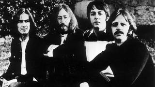 One of the last known pictures taken of The Beatles all together before they broke up in 1970