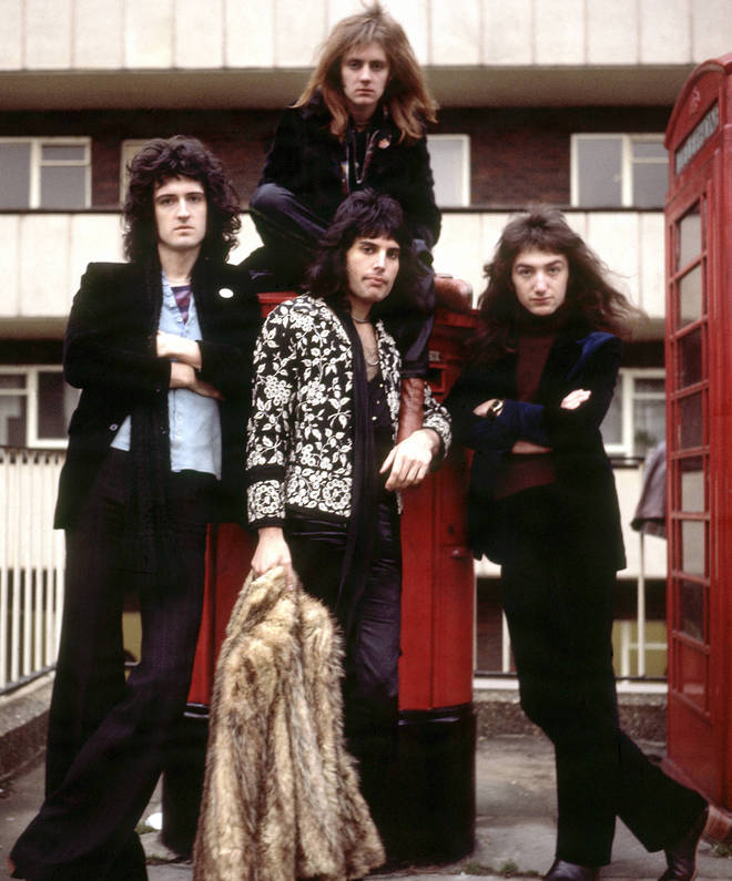 Unknown band Queen pictured in 1973. (L to R) Brian May, Roger Taylor (above), Freddie Mercury (below) and John Deacon
