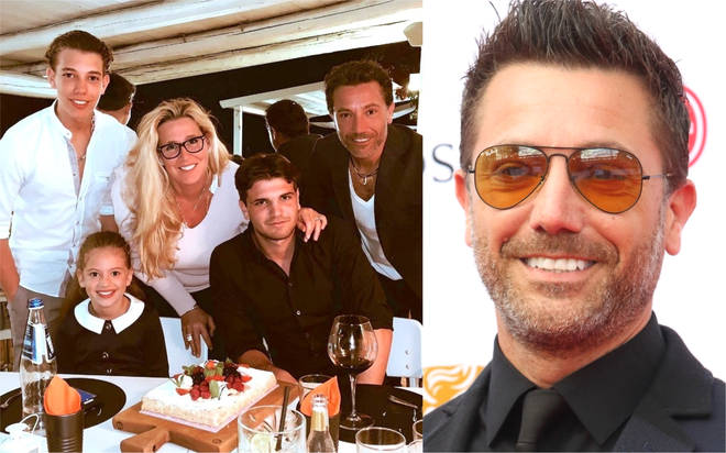 Gino D'Acampo shares rare picture with wife Jessica and their three children