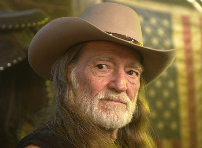 Willie Nelson on the set of his video shoot for the song 'Maria/Shut-Up and Kiss Me' in 2002