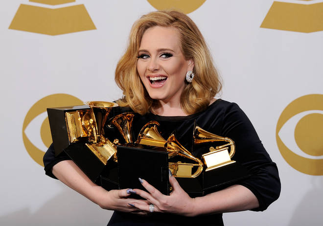 Adele at the 54th Grammy Awards