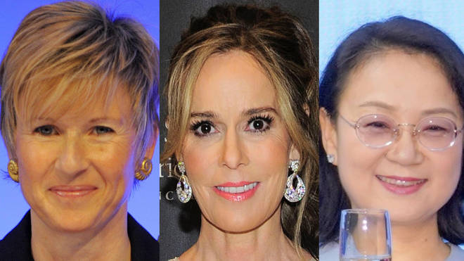 (L to R) Susanne Klatten, Julia Koch and Zhong Huijuan are among the top 10 richest women in the world