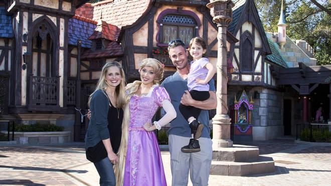 Sarah Michelle Gellar and Freddie Prinze Jr visit Disneyland with daughter Charlotte