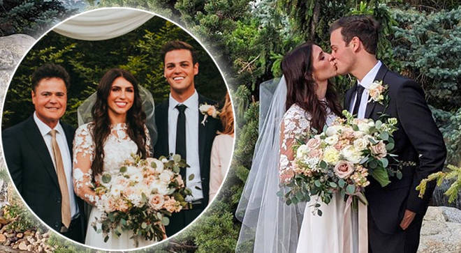 Donny Osmond's youngest son Josh gets married at family home