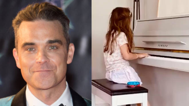 Robbie Williams' daughter Teddy is following in her father's musical footsteps