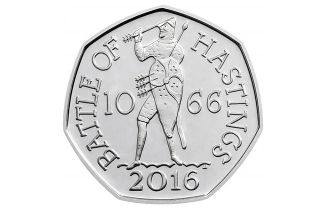 The Battle of Hastings 50p coin sold for £63,000 on eBay
