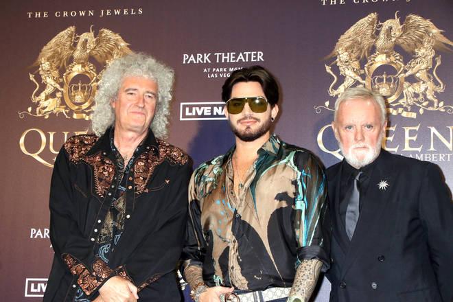 Brian May, Adam Lamber and Roger Taylor
