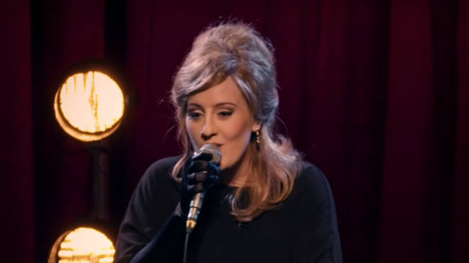 The real Adele gets on stage to perform her hit song 'Make You Feel My Love'