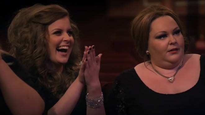 The impersonators were stunned when they realised the real Adele was among them
