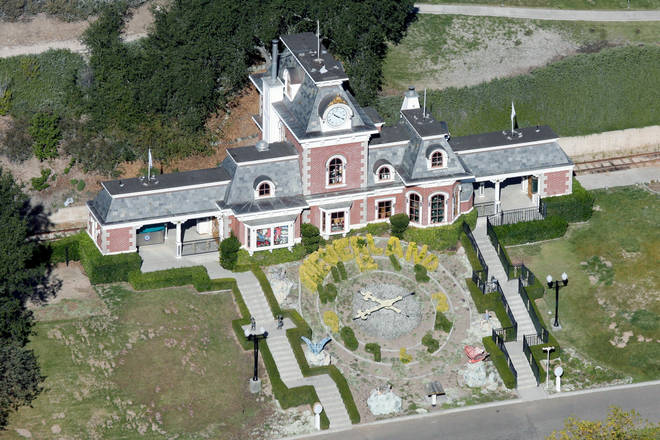 The train station at Neverland ranch is now dilapidated and uncared for