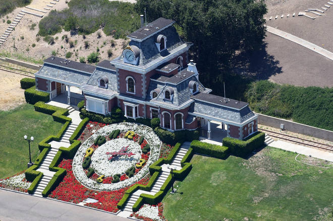 The ranch was Michael Jackson's pride and joy. Pictured, Neverland's private train station when the singer was still alive
