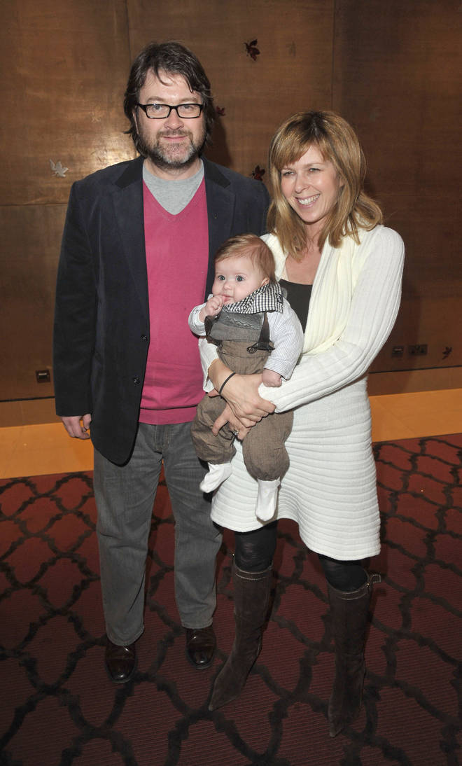 Kate Garraway, husband Derek Draper and son Billy, pictured in 2010