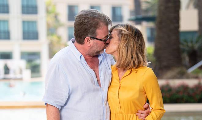Kate almost broke down in tears as she spoke about husband Derek Draper's ongoing health battle