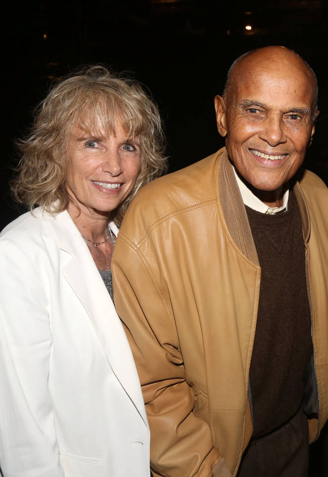 Harry Belafonte and wife Pamela Frank in 2016
