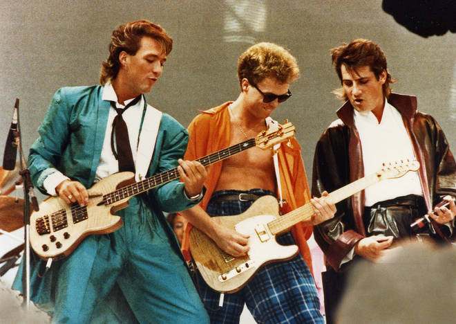 Spandau Ballet Perform At Live Aid In London on July 13th, 1985